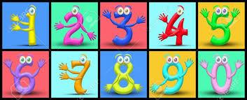 imagenes educativas animadas números de dibujos animados gracioso útil también para libros