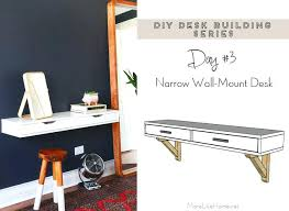 wall mounted fold down desk plans diy wall mounted desk check out the rest of our free desk plan