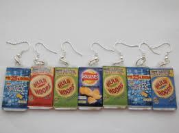 food earrings crisp packet earrings food jewellery