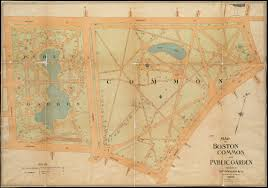 Map Of Boston by Map Of Boston Common And Public Garden Norman B Leventhal Map