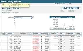 Billing Invoice Template Excel Invoice Tracking Template Excel Invoice Exle