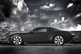 camaro car black chevrolet camaro ss black cat presented autoevolution