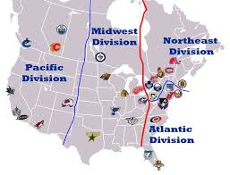 Nhl Map Nhl Alignment Map Cropped Four Division Plan With Phoenix Quebec