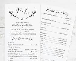 Download Wedding Program Template Wedding Program Template Etsy