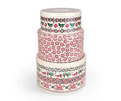 christmas tins bridgewater christmas set of 3 cake tins