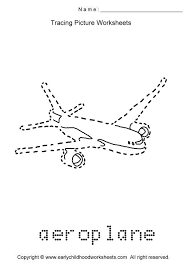 tracing aeroplane picture