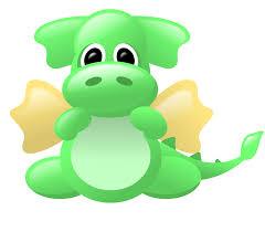 cute dragon green and gold clipart u0026 illustrations pinterest