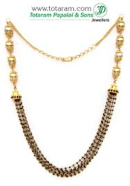 gold black bead necklace images 22k gold chain necklace with black diamonds south sea pearls jpg