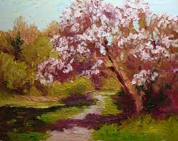 roxanne steed u0027s painting a day apple blossom spring morning