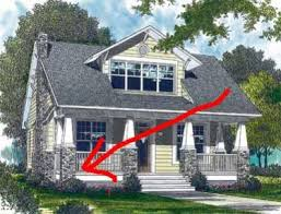 craftsman style porch leaning porch pillar on craftsman style house doityourself com