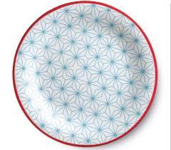 assiette de porcelaine romantiche geometrie set de 6 assiettes porcelaine guzzini