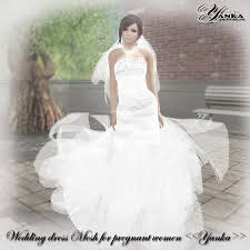Wedding Dresses For Pregnant Women Second Life Marketplace Wedding Dress Mesh For Pregnant Women