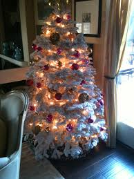 Christmas Tree Decorations Ideas And by Decorating Amusing Natural Fir Flocked Christmas Tree For