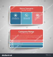 modern simple business card template vector stock vector 274547711