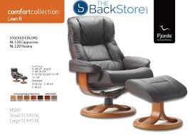 fjords 855 loen ergonomic leather recliner chair ottoman