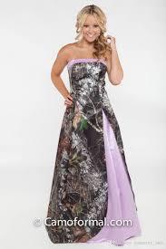 pink camo wedding gowns 2017 light purple camo wedding dresses strapless satin floor