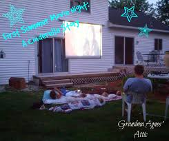 grandma agnes attic outdoor movie screen in your own backyard do