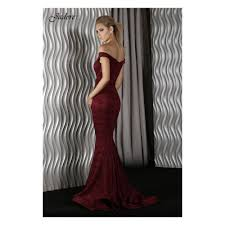 jadore dresses jadore j9013 wine strapless dress in lace with the shooulder