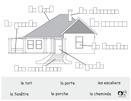 french printable worksheet house french worksheets for children