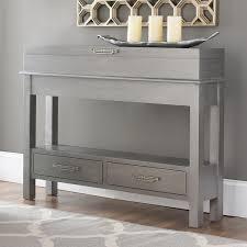 claudus new york narrow sofa table with storage coffee u0026 side