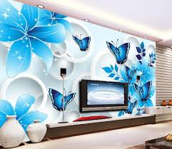 luxury european modern blue lily butterfly 3d tv wall mural 3d luxury european modern blue lily butterfly 3d tv wall mural 3d wallpaper 3d wall papers for tv backdrop wallpapers for the desktop wallpapers free from