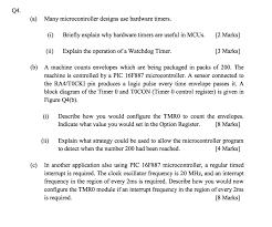 a many microcontroller designs use hardware chegg com