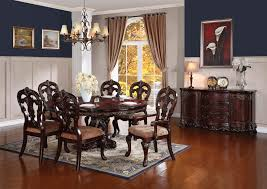 traditional formal dining room sets homelegance deryn park traditional round dining table with