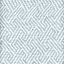 Geometric Fabrics Upholstery A Classic Soft Sky Blue Geometric Fabric Print Contrasted In