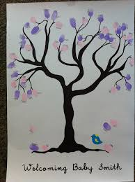 baby shower fingerprint tree baby shower fingerprint tree the owl and the