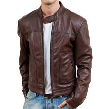 motorcycle riding jackets casual wear brown biker style leather jacket