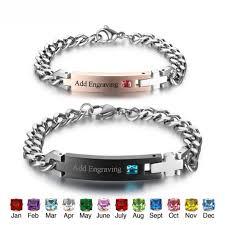 personalized bangle personalized bracelet onyx bunny