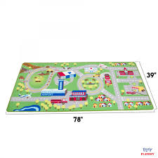 kids play car rug community carpet mat large 78