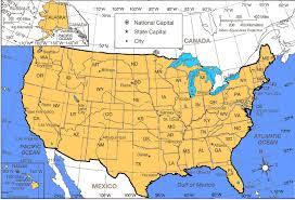 Us Maps With States United States Map With Latitude And Longitude Printable New World