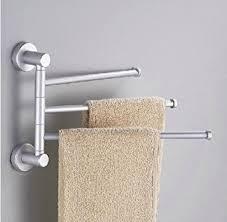 bathroom towel bar towel holder 3 swivel bars aluminium bath rack rail