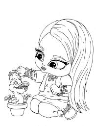 chibi monster coloring pages download print free