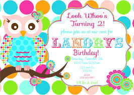 A Birthday Invitation Card Owl Birthday Invitations Iidaemilia Com