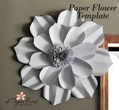 flowers today paper flower template diy paper flower diy backdrop paper
