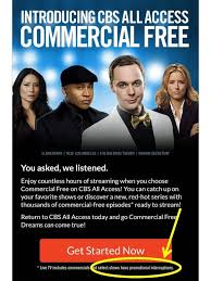cbs all access commercial free now with commercials bigbrother