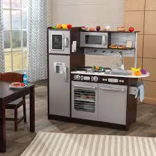Pink Retro Kitchen Collection Kidkraft Uptown Espresso Kitchen With 30 Piece Play Food Walmart Com