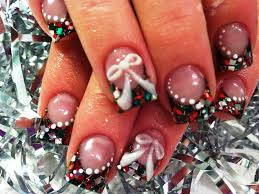 easy xmas nail art fun holiday tutorial diy christmas nails diy