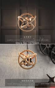 american style hemp pendant light personalized rustic twiner