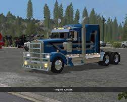 kenworth heavy haul trucks kenworth t908 black fs17 farming simulator 17 mod fs 2017 mod