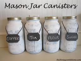 mason jar canisters craft mason jar crafts and organizations