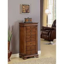 marquis brown eight drawer locking jewelry armoire nathan direct