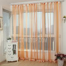 Sheer Curtains Orange Best Sliding Door Custom Made Sheer Curtain In Orange Color