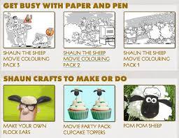 shaun sheep movie crafts u0026 free printable activity sheets
