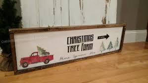 christmas tree farm sign vintage truck tree farm sign