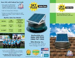 solar attic fans sky flex skylight