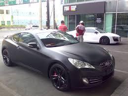 2015 hyundai genesis forum matte black genesis meets matte white r8 hyundai genesis forum