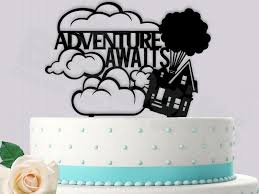 up cake topper disney up inspired cake topper adventure awaits 2448315 weddbook